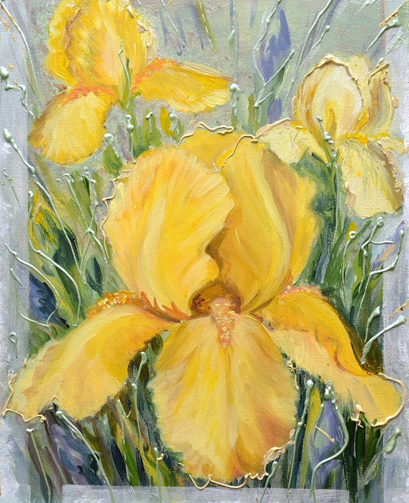 How to paint with acrylic on canvas flowers