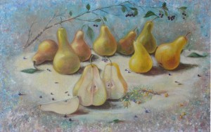 How to paint still life with pears
