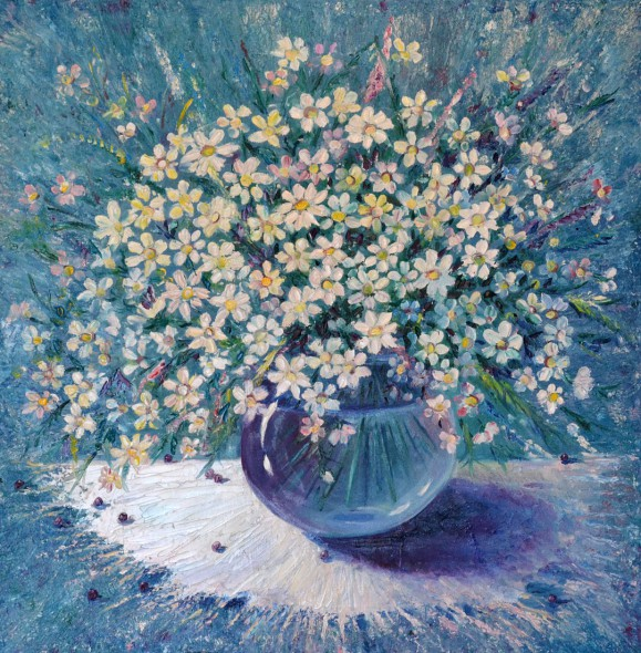 Free oil painting lessons for beginners, still life with flowers