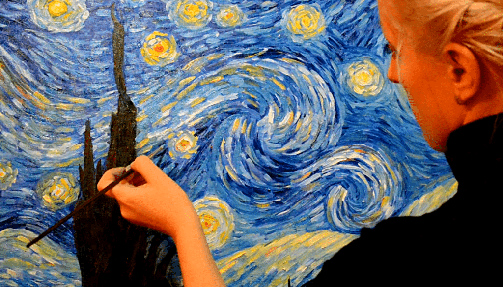 How to draw landscape of starry night step by step free for Simple paintings to draw