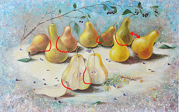 pears, still life, how to draw, how to paint, art lesson