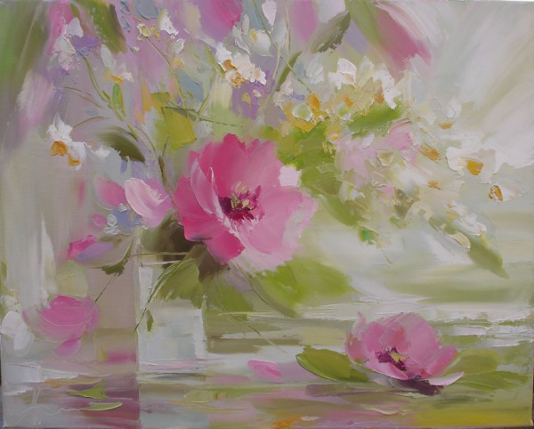 how to paint, how to draw, art lesson, still life with flowers