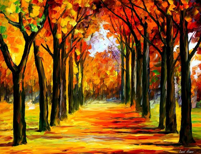 afremov, landskape, how to paint, art leaaon