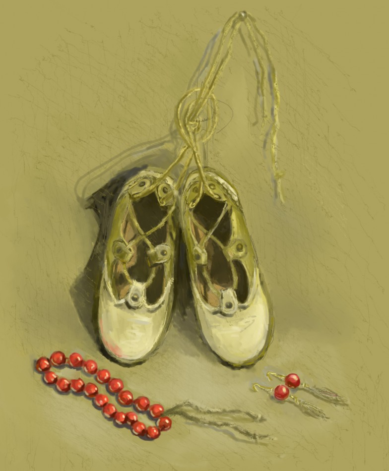 pointe, how to draw, how to paint still life, art lesson