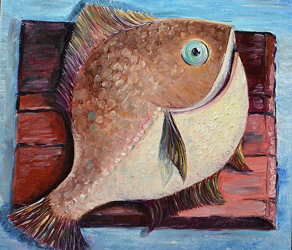 how to draw, how to paint fish, art lesson, still life