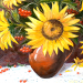 How to paint a bunch of flowers, oil painting lesson video